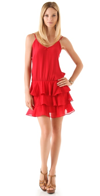 Beyond Vintage Tiered Cami Mini Dress