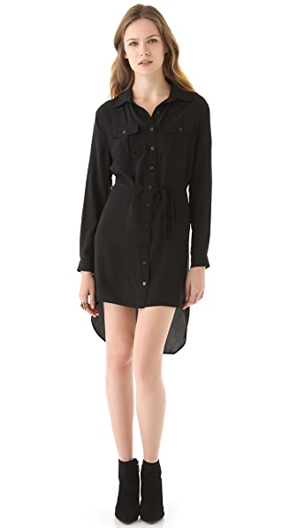 Beyond Vintage High Low Shirtdress