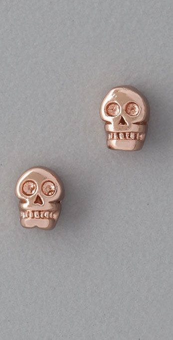Bing Bang Tiny Skull Stud Earrings