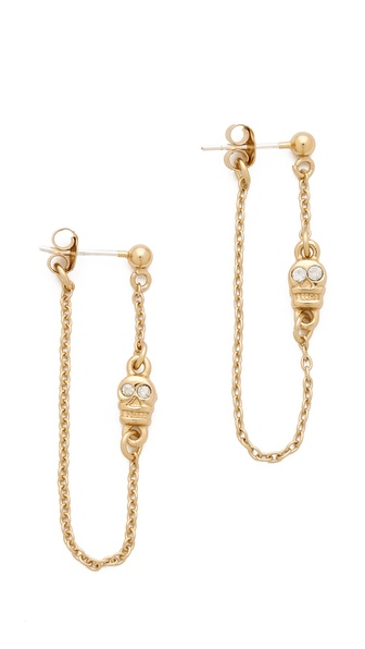 Bing Bang Skull Chain Earrings