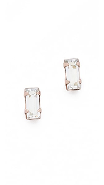Bing Bang Victorian Baguette Stud Earrings