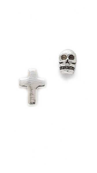 Bing Bang Memento Mori Duet Stud Earrings