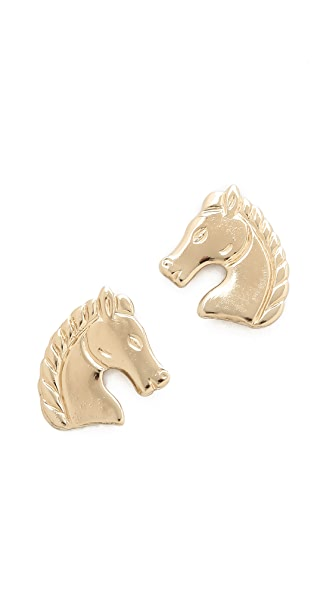 Bing Bang Horse Stud Earrings