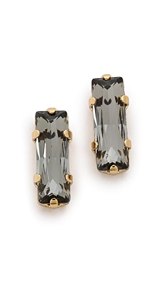 Bing Bang Oversized Baguette Stud Earrings