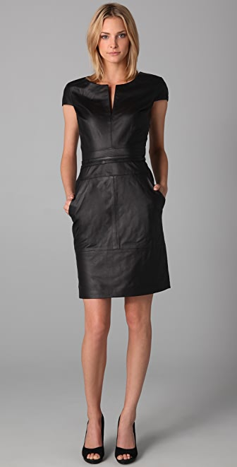 Bird by Juicy Couture Oxford Leather Dress