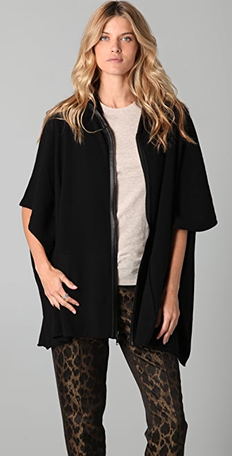 Bird by Juicy Couture Knit Poncho Jacket