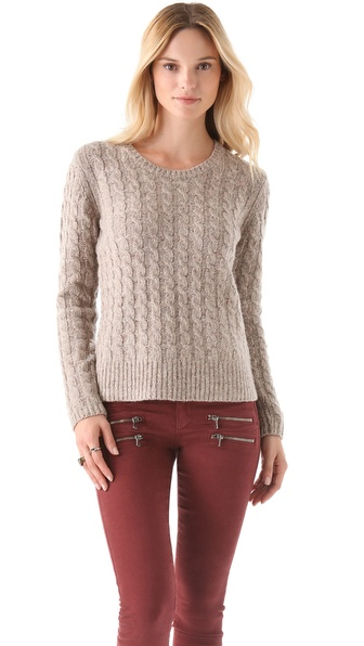 Birds of Paradis by Trovata Chunky Cable Pullover