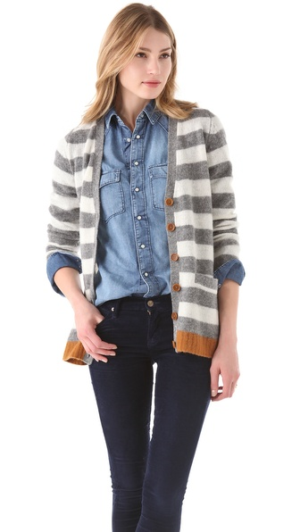 Birds of Paradis by Trovata Striped Cardigan
