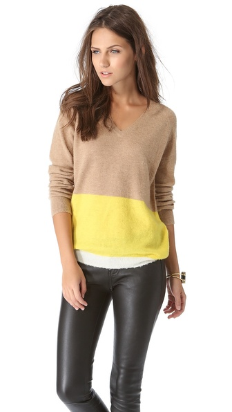 Birds of Paradis by Trovata Two Tone Sweater