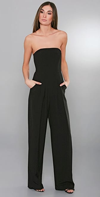 Black Halo Strapless Jumpsuit