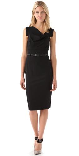 Black Halo Jackie O Belted Dress