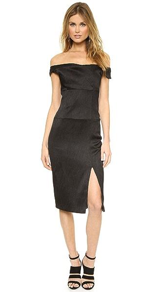 Black Halo Off the Shoulder Jackie O Dress