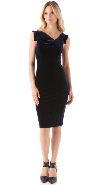 Black Halo Velvet Jackie O Dress