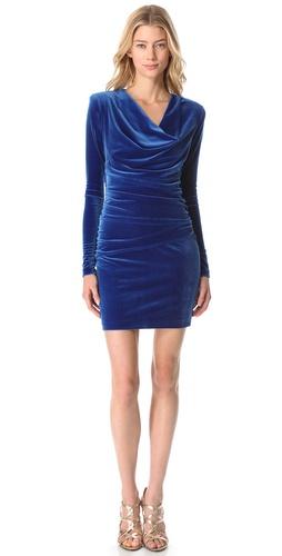 Black Halo Daphne Velvet Mini Dress