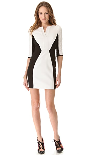 Black Halo Terri Contrast Dress