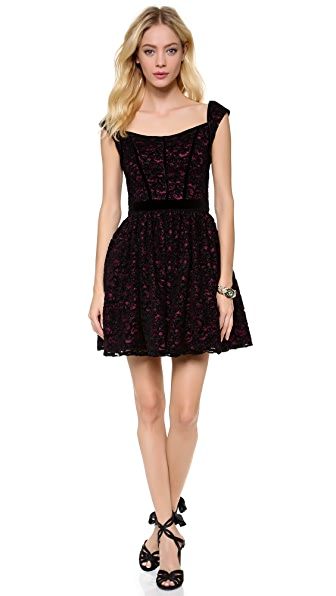 Black Halo Eve Serena Lace Dress