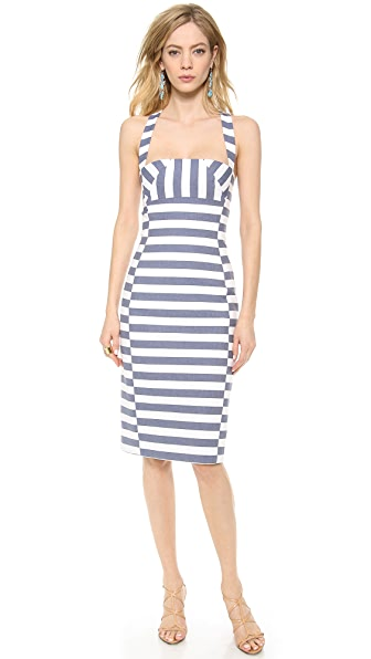 Black Halo Bryson Stripe Sheath Dress
