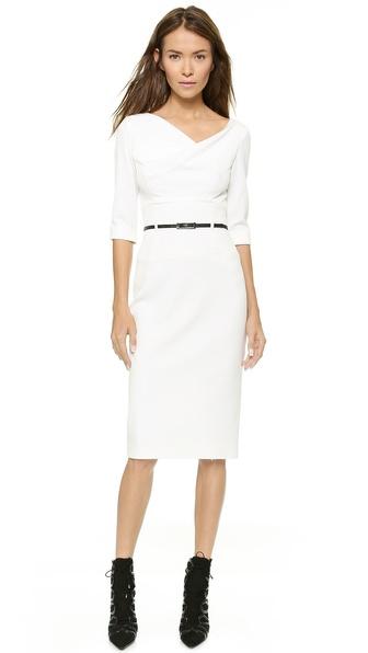 Kupi Black Halo haljinu online i raspordaja za kupiti Black Halo 3/4 Sleeve Jackie O Dress Winter White online