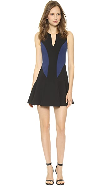 Black Halo Nova Colorblock Mini Dress