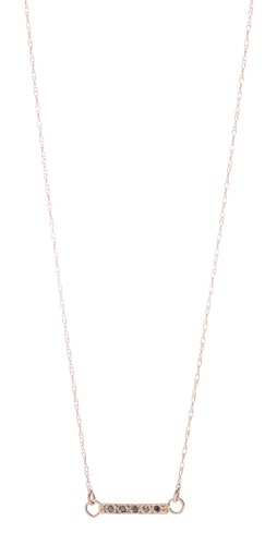 blanca monros gomez Black Diamond Small Dainty Necklace