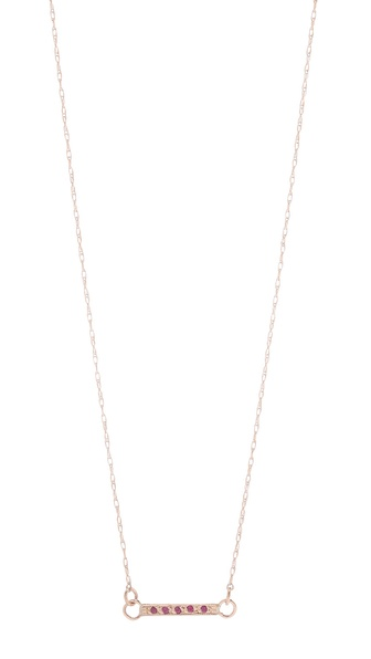 blanca monros gomez Ruby Small Dainty Necklace