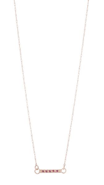 blanca monros gomez Ruby Small Dainty Necklace