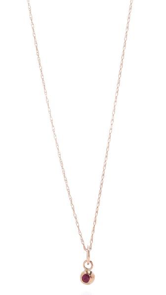 blanca monros gomez Ruby Seed Necklace