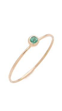 blanca monros gomez Emerald Seed Ring