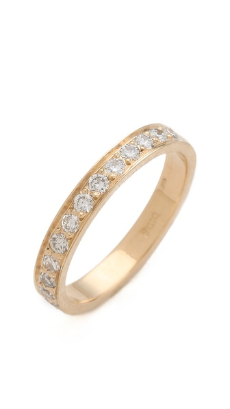 blanca monros gomez Thick 14 White Diamond Band Ring