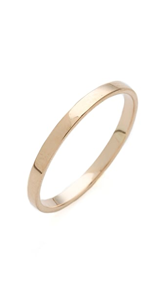Blanca Blanca Flat Band Ring (Yellow)