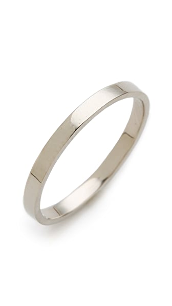 Blanca Blanca Flat Band Ring (Multicolor)