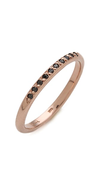 blanca monros gomez Black Diamond Band Ring
