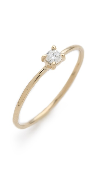 blanca monros gomez Brilliant Cut Diamond Solitaire Ring