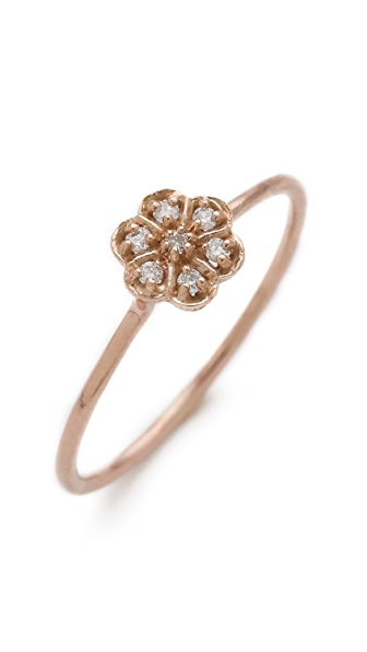 Blanca Blanca Diamond Medium Rosette Stacking Ring (Multicolor)
