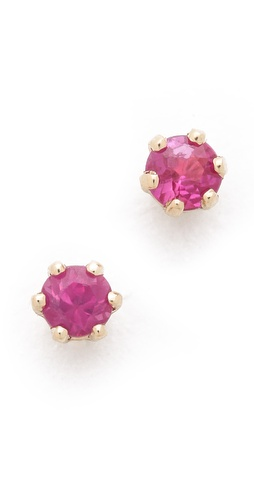 blanca monros gomez Little Ruby Stud Earrings