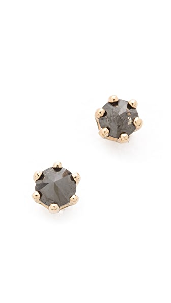 Blanca Blanca Little Black Diamond Stud Earrings (Multicolor)