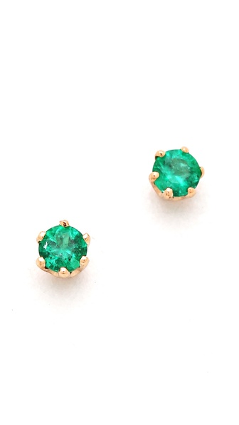 blanca monros gomez Little Emerald Stud Earrings