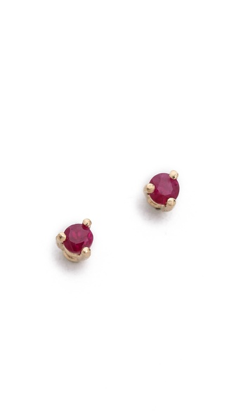 blanca monros gomez Tiny Ruby Stud Earrings