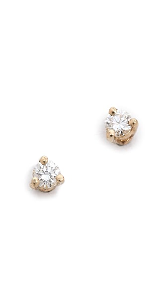 Blanca Blanca White Diamond Stud Earrings