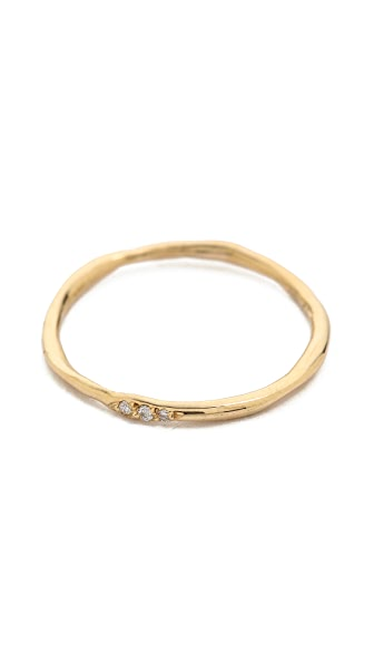 Blanca Blanca Thin Wavy Band Ring (Multicolor)