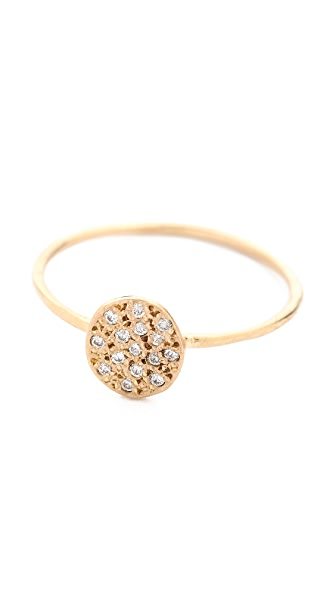 Blanca Blanca Flat Seed Pave Diamond Ring (Multicolor)