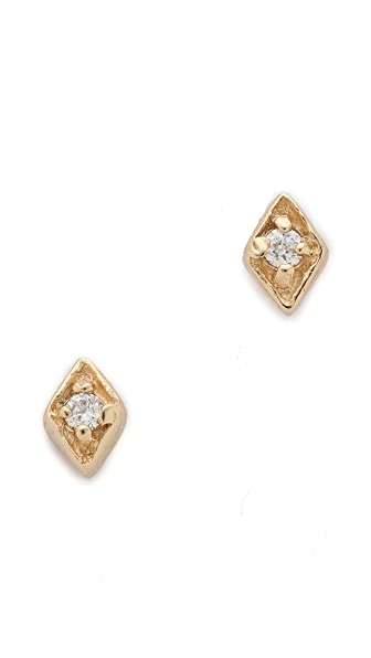 Blanca Blanca Tiny Diamond Filigree Stud Earrings (Multicolor)
