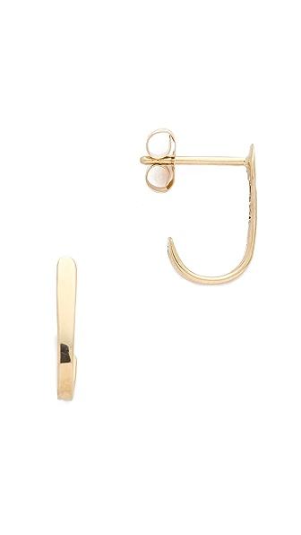 Blanca Blanca Curved Bar Stud Earrings (Yellow)