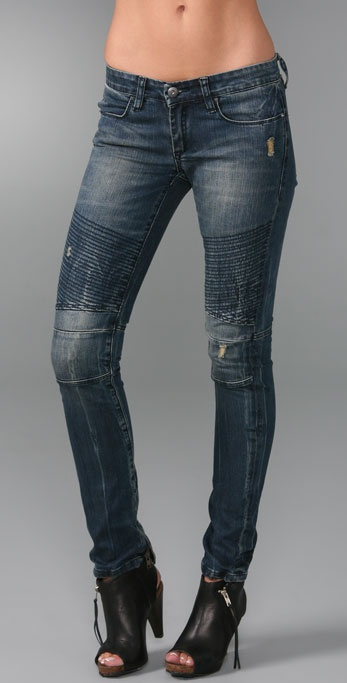 Blank Denim Motorcycle Skinny Jeans