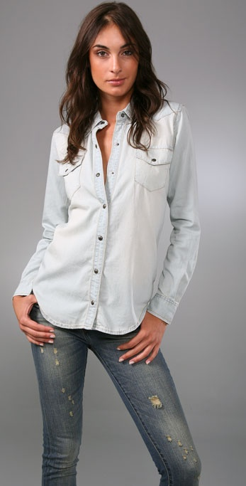 Blank Denim Denim Boyfriend Shirt