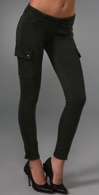 Blank Denim Knit Twill Cargo Leggings