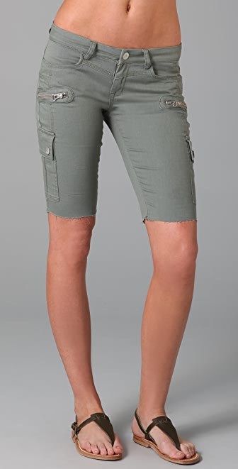 Blank Denim Cargo Bermuda Shorts
