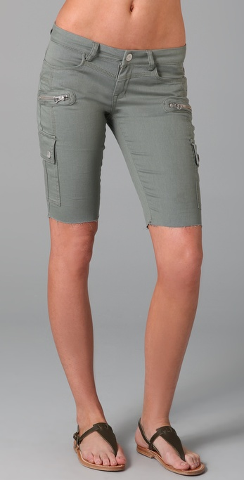 Blank Denim Cargo Bermuda Shorts
