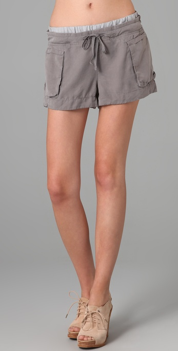 Blank Denim Tencel Drawstring Shorts