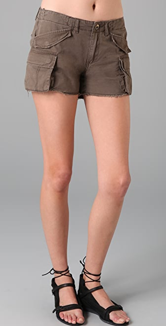 Blank Denim Khaki Twill Cargo Shorts
